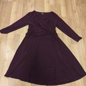Women's A-line Front Knot Dress